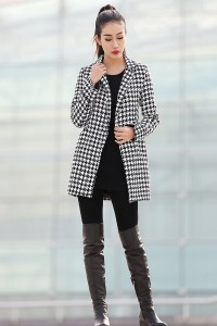 YL1dress houndstooth coat