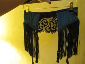 The fabulous fringed Augusta garter belt.