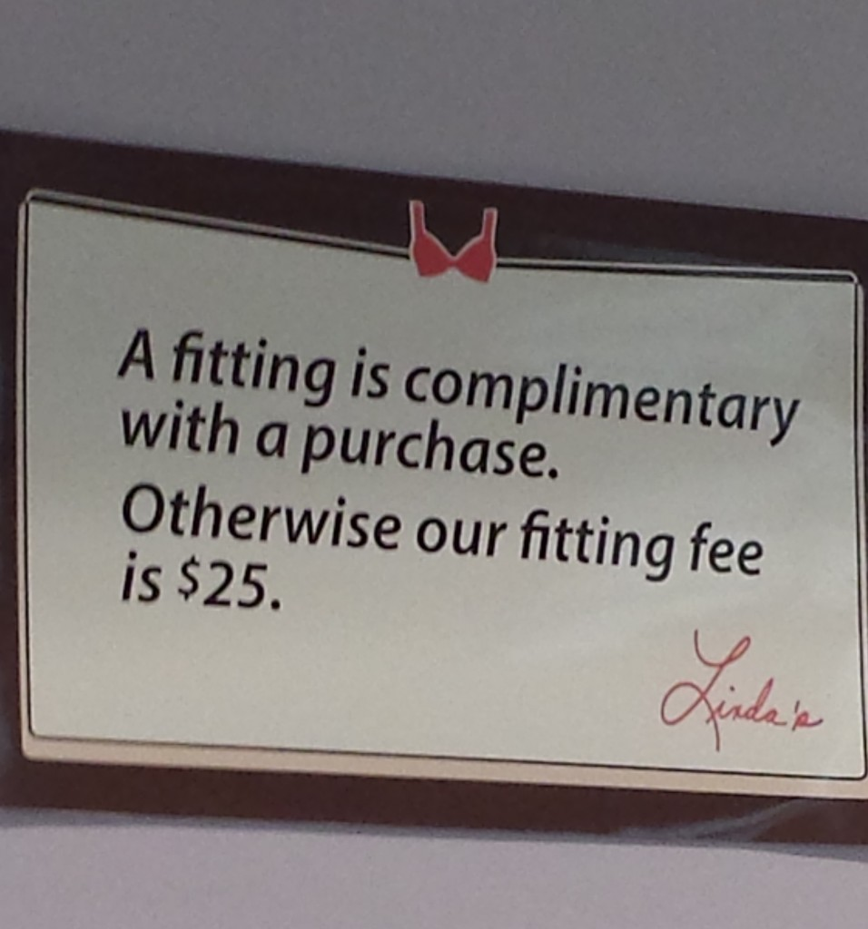 lindas bra fitting fee