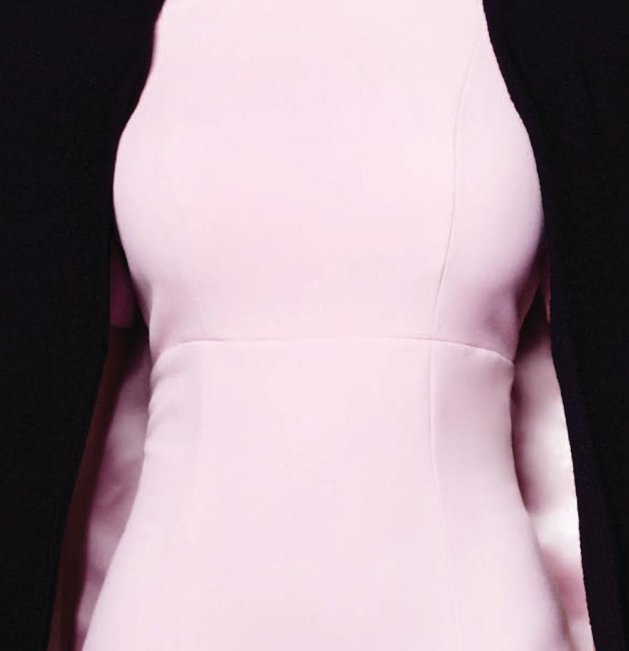 miriam baker pink dress seam closeup. 7jpg