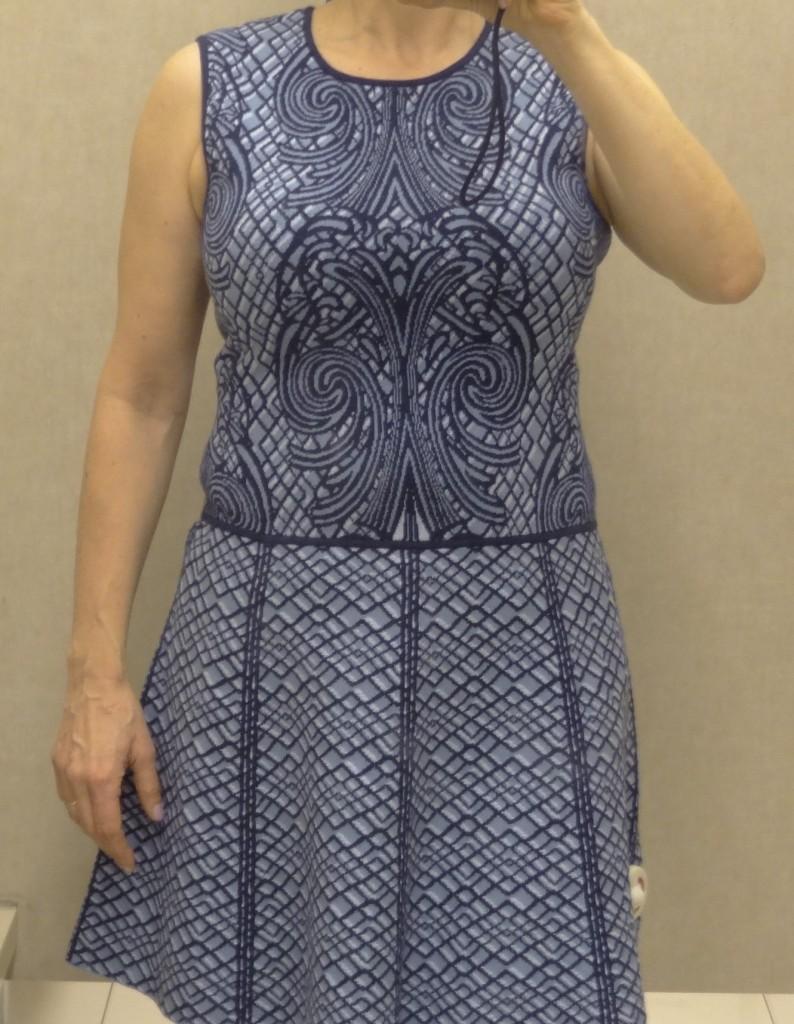 dress print waistline boobs