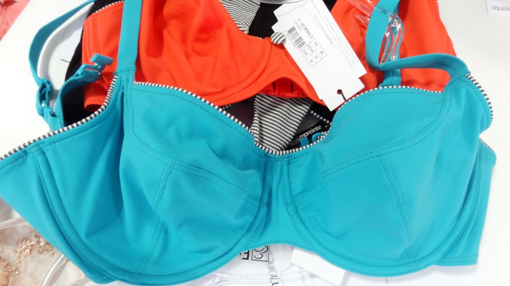 empreinte swim bikini turquoise with striped piping
