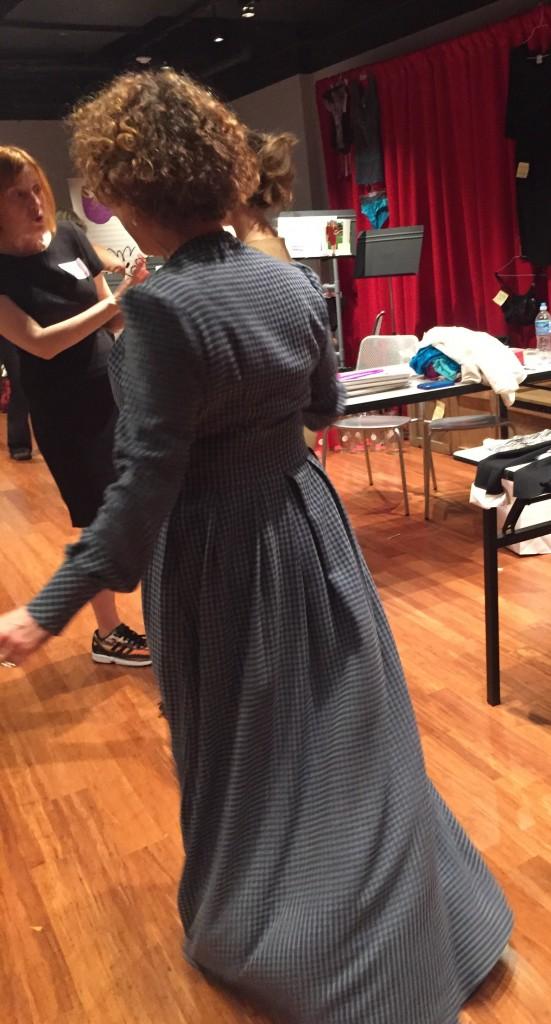 dd atelier swirling around in maxi dress