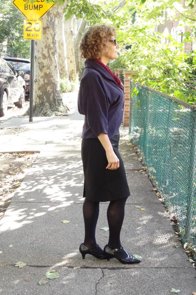 purple jacket side view