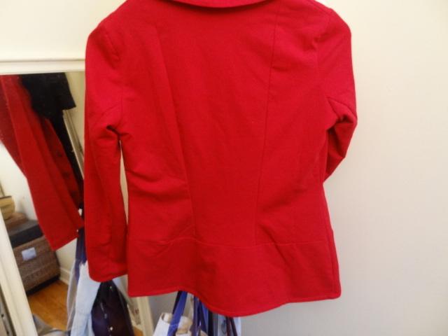 urkye red blazer back detail