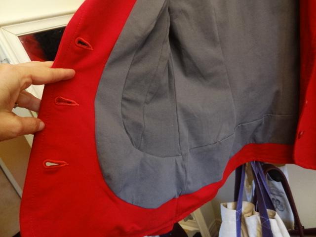 urkye red blazer interior detail