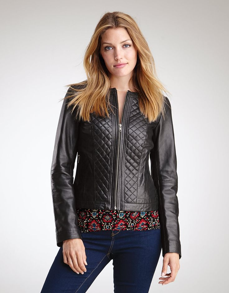 Pepperberry black leather jacket