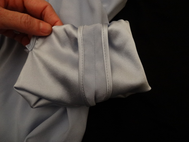 more front room silk sleeve seam binding
