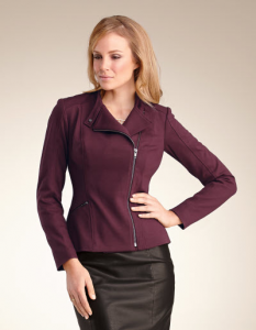 Ponte biker blazer [http://www.bravissimo.com/pepperberry/products/coats/jackets/ponte-biker-jacket/plum/pc160plu/?level=2] from Pepperberry.