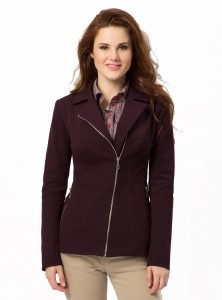 Zipper jacket [http://dd-atelier.com/Zipper-Jacket-in-Brown.html] from DD-Atelier, available in brown (shown here), green, and bordeaux.