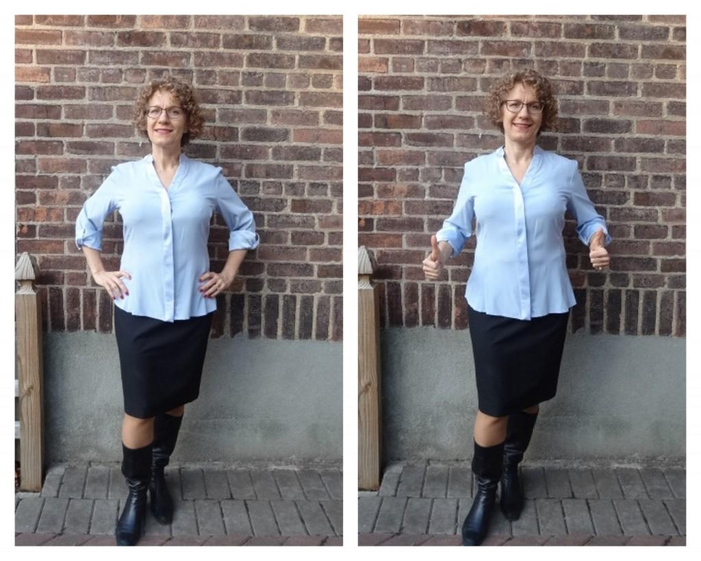 more front room silk blouse gap no gap comparison