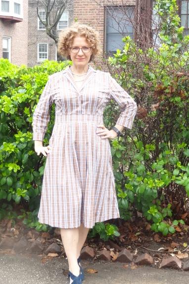 DD Atelier plaid dress long sleeves 1