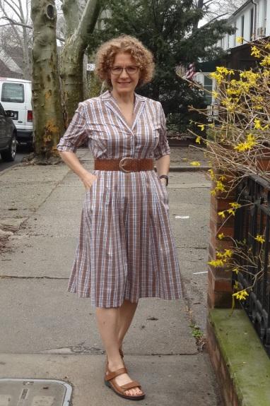 DD Atelier plaid dress with belt
