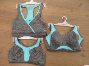 Top: Freestyle, the new low-impact wireless crop top (I need this for dog-walking!); bottom: Force, a mid-impact wireless sports bra, right: Epic, a wired high-impact crop top sports bra (which I also want).