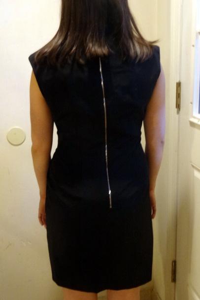 miriam baker black dress back on model