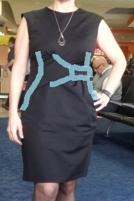 miriam baker black jennifer dress seams diagram