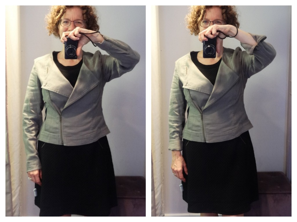 big bust biker jacket sleeve length comparison