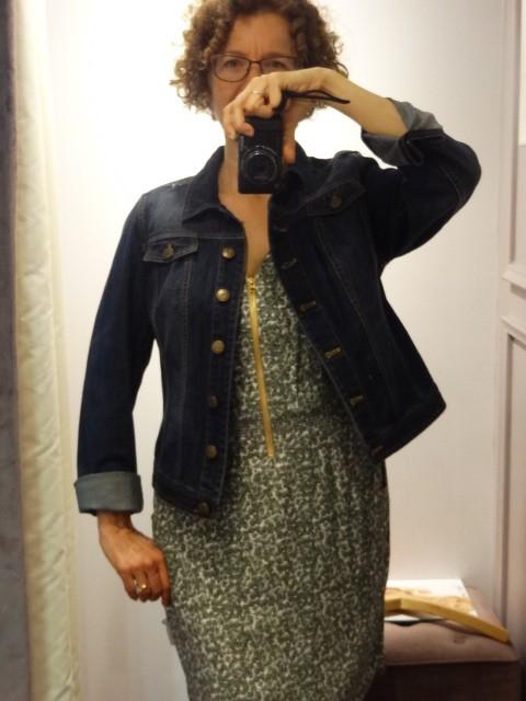 big bust pepperberry jean jacket rolled sleeves