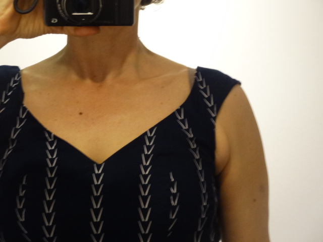 blog chevron dress neckline closeup