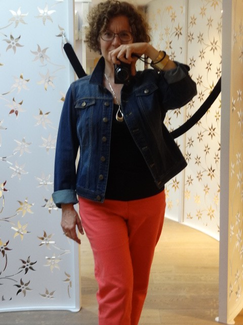 blog denim jacket with my street clothes