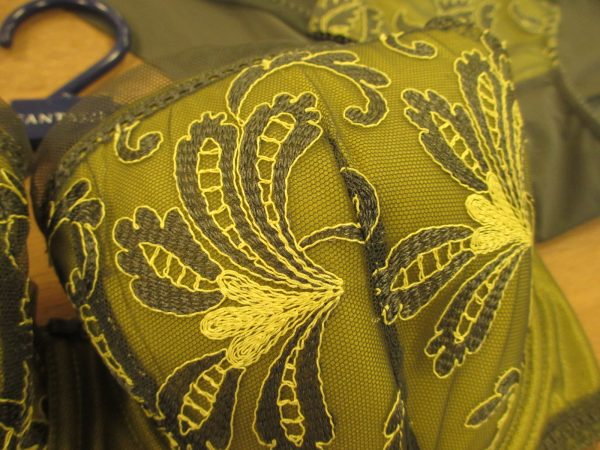 That embroidery is just to die for. And such an unusual color scheme for lingerie!