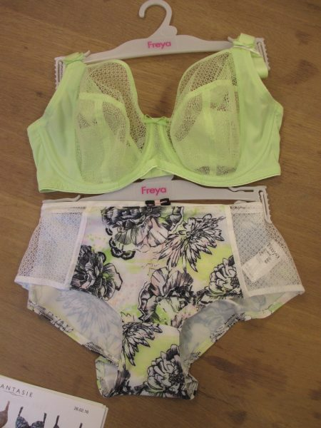And note how well Hero goes with the Fresco collection's black and pistachio floral print and mesh.