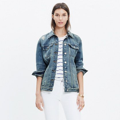 big bust jean jacket madewell oversized