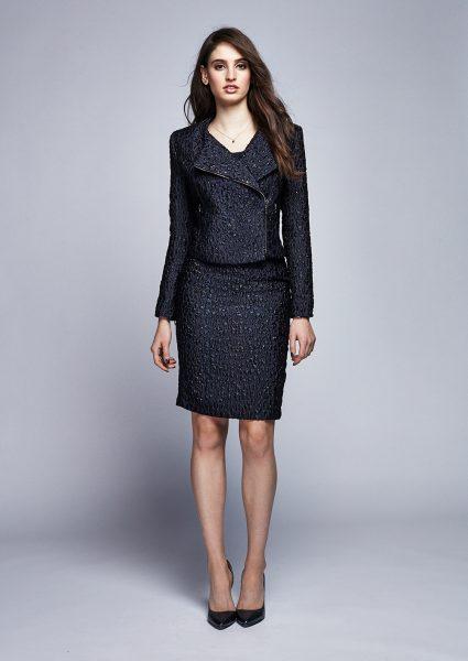 full bust fashion miriam baker cloque jacket skirt