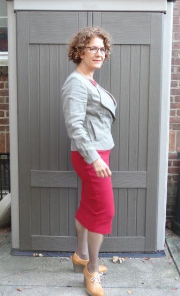 red-dress-moss-biker-booties-side