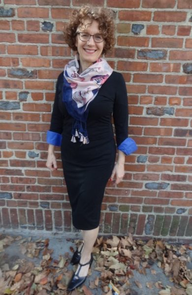 big-bust-above-average-style-black-column-scarf