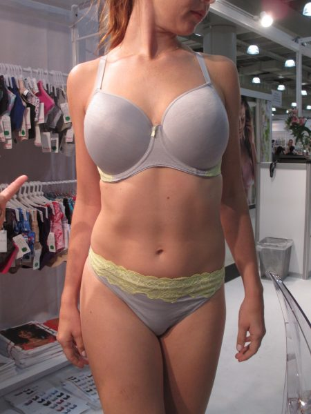 """Chi"" is a new molded-cup bra based on the Idol shape, which I'm told is even more projected than the Deco."