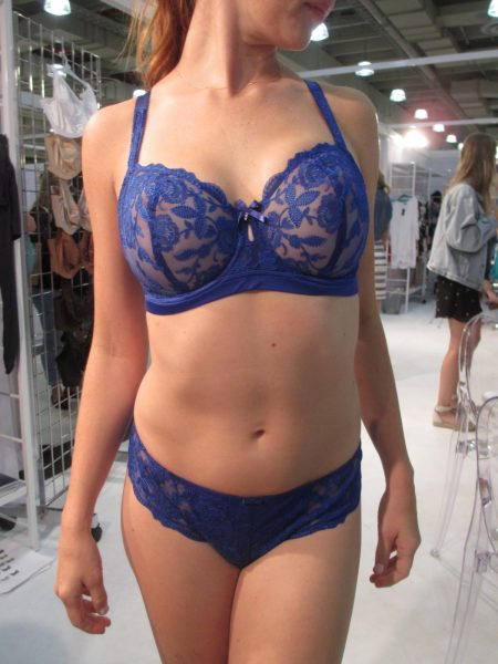 "The sheer, vertical-seamed ""Sienna"" in bright cobalt looks more like a Huit-style piece to me—in the best possible way!"