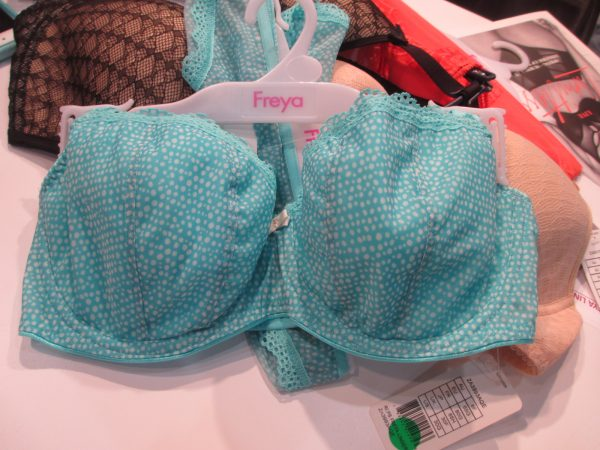 "Loving this collection's sky blue additions, such as this ""Summer Haze"" padded half-cup bra."