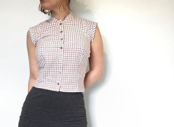 etsy cropped blouse